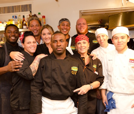 Cindy Hutson, Delius Shirley, and their team at the James Beard House