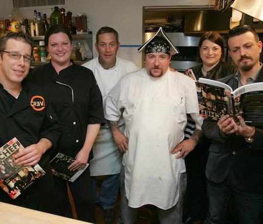 Adam Goetz, Jennifer Boye, Brian Mietus, JJ Richert, Christa Glennie Seychew, and Jon Karel at the James Beard House
