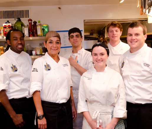Rosalia Barron and her team at the James Beard House