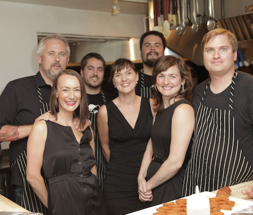 John Gorham and his team at the James Beard House
