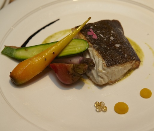 Hobbit's Halibut > Seared Halibut on the Shire with Farmer Lee's Vegetable Mousses