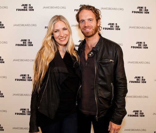Guest musical artist Holly Williams with husband (and Kings of Leon guitarist) Chris Coleman