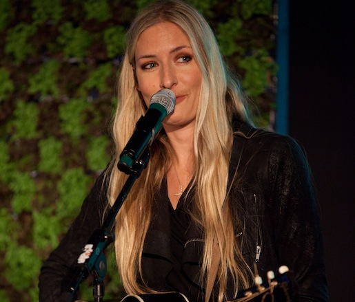 Guest musical artist Holly Williams performing at the JBF Leadership Awards ceremony