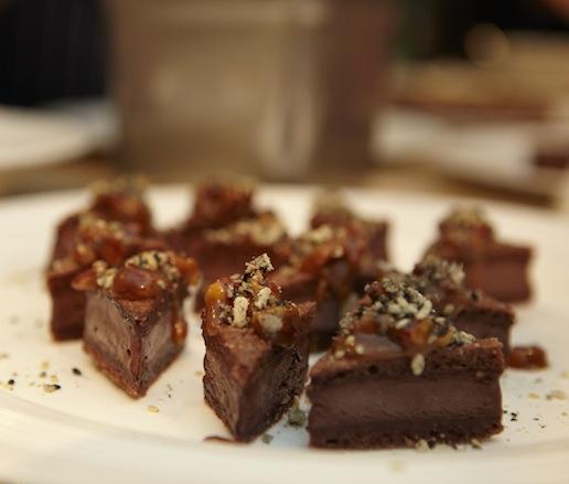 Chocolate 'Ice Cream' Sandwich with Pecan Caramel