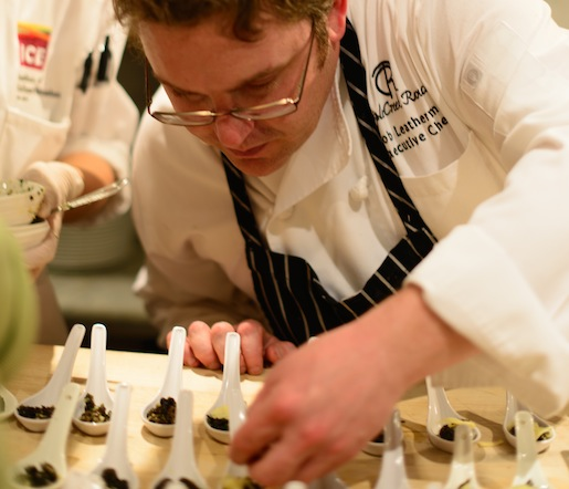 Jacob Leatherman at the James Beard House