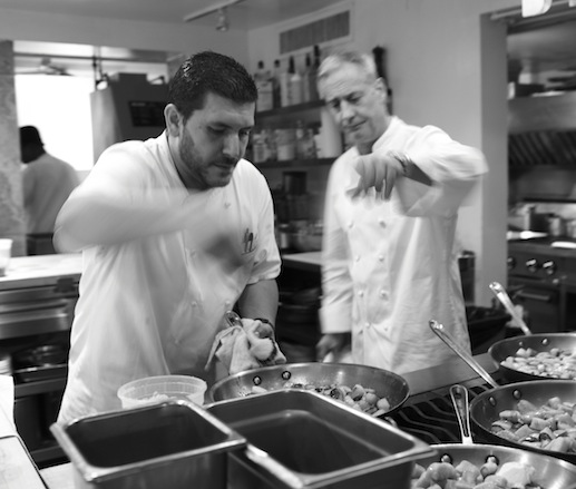 Ari Bokovza and Jimmy Bradley in the James Beard House kitchen