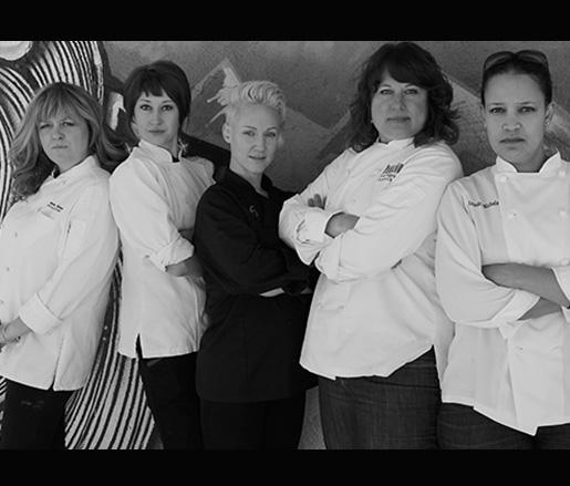 L to R: Jenna Johansen, Nadine Donovan, Carrie Blake, Elise Wiggins, Aniedra Nichols
