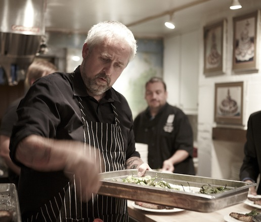 John Gorham behind the scenes at the James Beard House