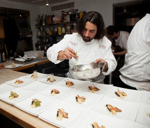 Juan Carlos Gonzalez at the James Beard House