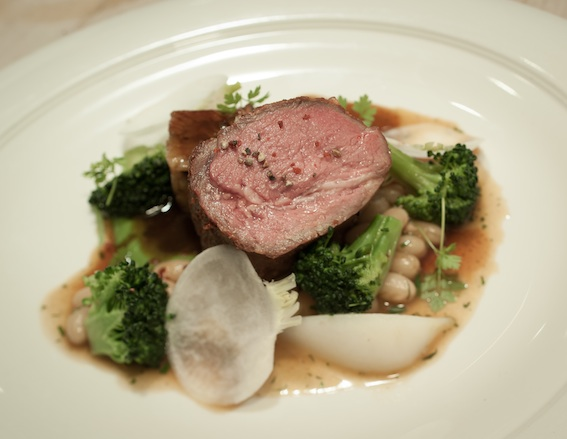 Lamb Duo > Braised and Roasted with Broccoli