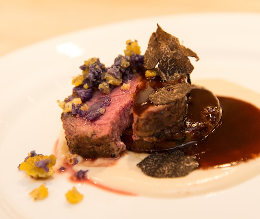 Aged Colorado Lamb Duo > Braised Shoulder and Seared Loin with Cauliflower and Périgord Truffles
