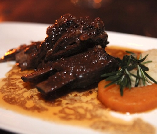 Lamb Ribs with Root Vegetables and Cannonau Wine Reduction