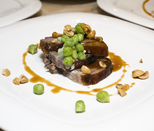 Spring Lamb with Green Chickpeas, Hazelnuts, and Cucumbers