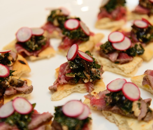 Lamb Carpaccio with Radishes, Kale, Lemon, Olives, and Feta