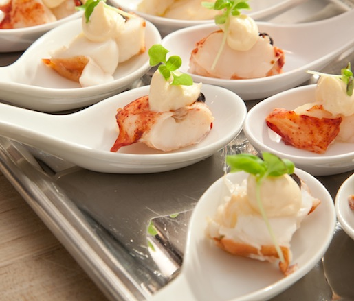 Truffle Mousse Shooters with Lobster