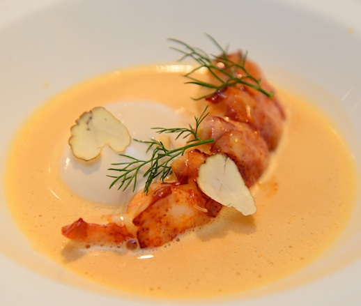 Poached Lobster with Chestnuts and Spices