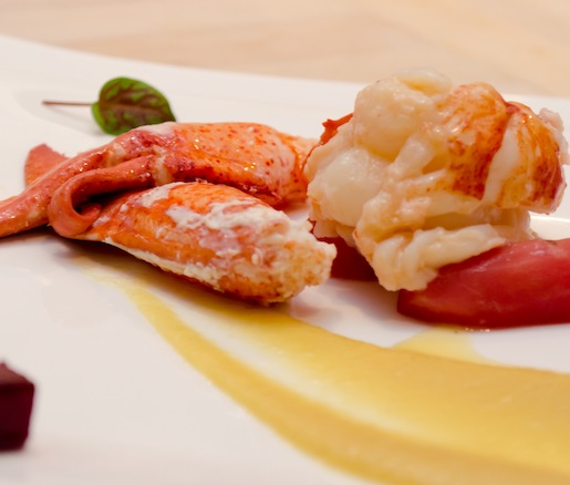 Maine Lobster with Golden Beet Flavors, Sunchokes, and Vanilla
