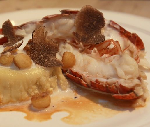 Butter-Poached Maine Lobster Tail with Preserved New England Corn Sformato and Black Winter Truffles