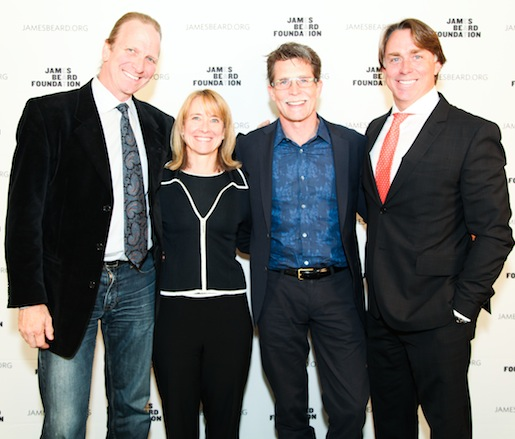 JBF Award winner Michel Nischan, JBF Board of Trustees chair Emily Luchetti, JBF Award winner Rick Bayless, and JBF Award winner John Besh