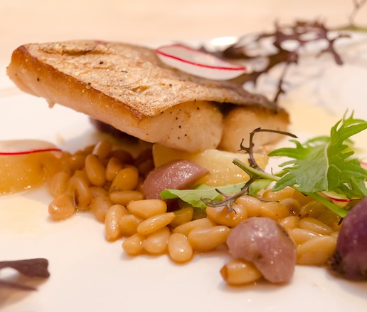 Mackerel with Pine Nuts, Potatoes, and Beurre Noisette