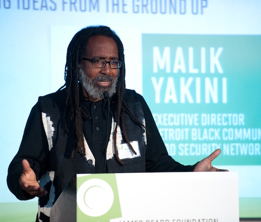 "JBF Leadership Award winner and founder of the Detroit Black Community Food Security Network Malik Yakini presents ""Solutions: Big Ideas from the Ground Up"""