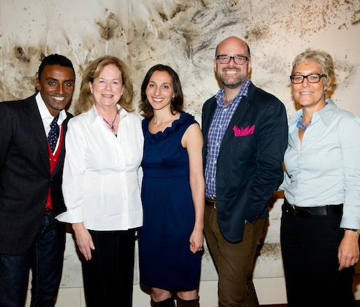 JBF Award winner Marcus Samuelsson, JBF president Susan Ungaro, journalist Jane Black, JBF executive vice president Mitchell Davis, and Karen Karp of Karp Resources