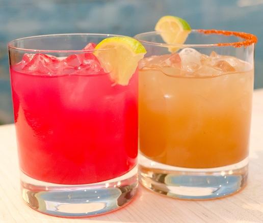 Signature Tamarind and Prickly Pear Margaritas
