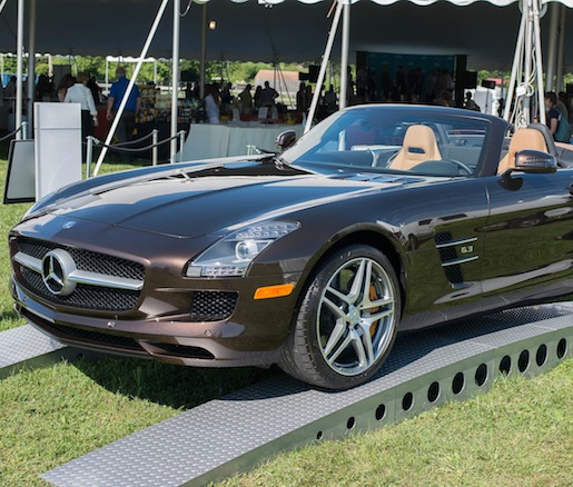 A Mercedes-Benz convertible at Chefs & Champagne®