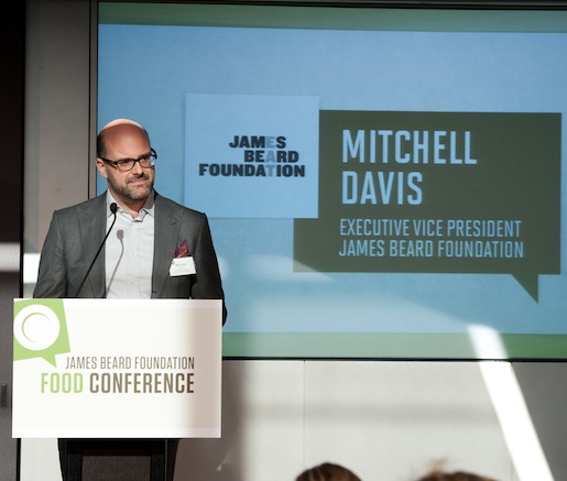 JBF executive vice president Mitchell Davis addresses the conference attendees