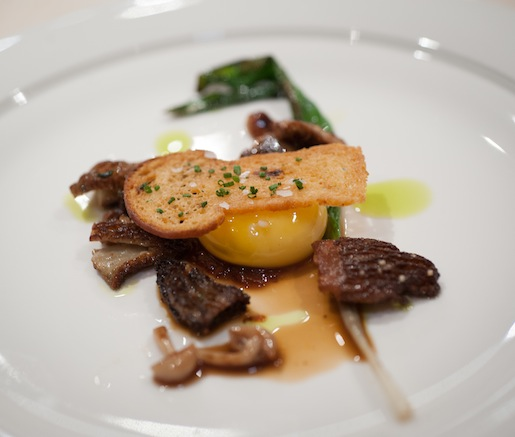 This Morning's Egg with Morels and Ramps