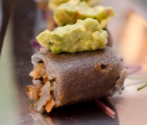 Mushroom–Epazote Flautas with Guacamole