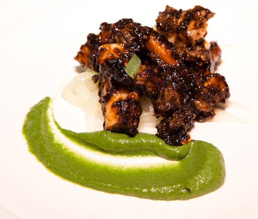Grilled Black Pepper Octopus with Sweet Onions and Lime