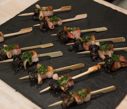 Offal Skewers with Herbed Vinaigrette