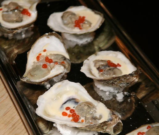 Clammer Dave's Oysters with Sweet Pepper Mignonette
