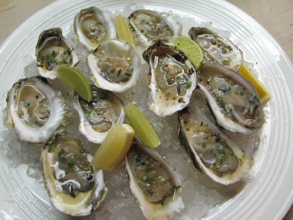 Cape Cod Oysters with Chilled Dashi and Light Soy Sauce