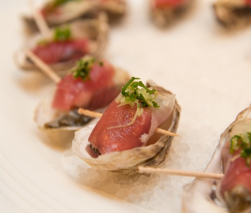 Oysters with Tuna