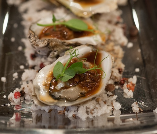 J.A.M. Gulf Oysters with Oxtail Mignonette