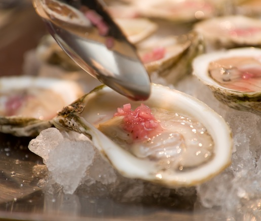 Nantucket Oysters with Verjus Mignonette