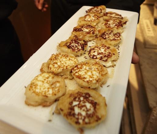 Sourdough, Sauerkraut, Pecorino, and Ricotta Pancakes