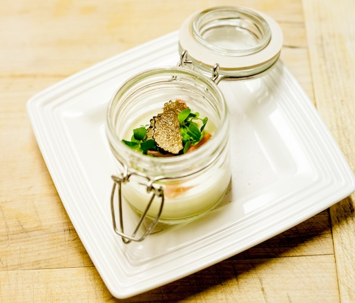 Old Chatham Truffle Ricotta Panna Cotta with Lamb's Lettuce