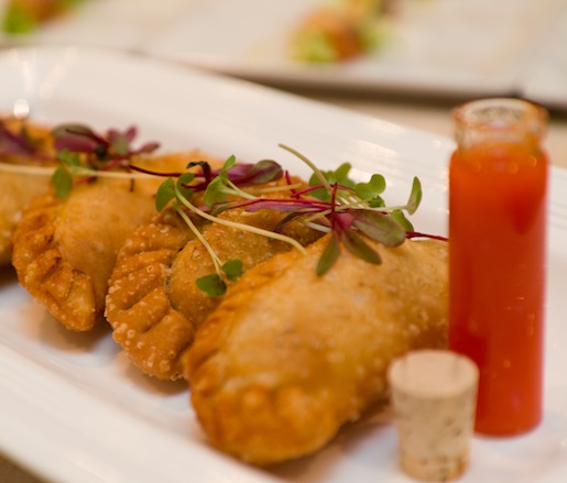 Chicken Confit Pastelillos with Mojito Isleño and Pique