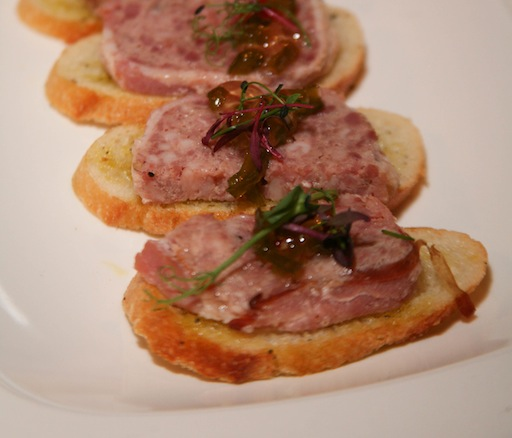 Country Pâté Crostini with Housemade Pepper Jelly