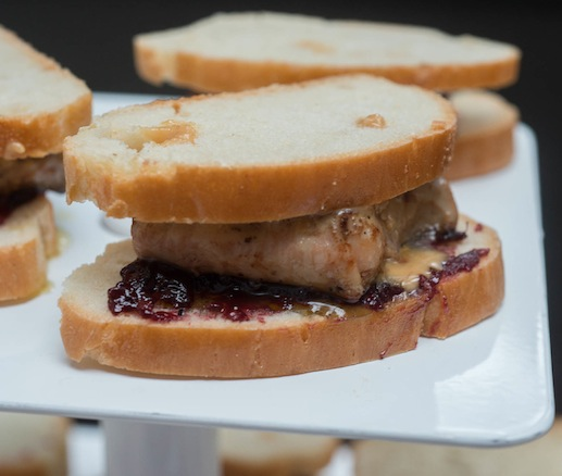 Peanut Butter, Jelly, and Foie Gras on Rustic White Bread