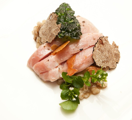 Butter-Poached Pheasant with Foraged Mushrooms and Black Truffles
