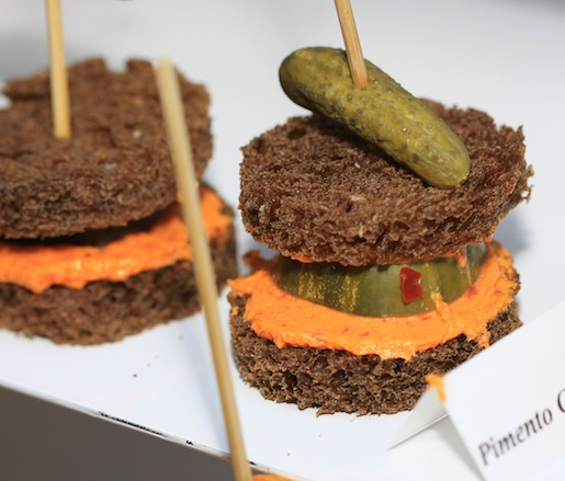 Pimento Cheese and Pickles on Pumpernickel