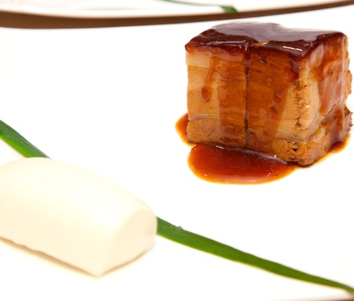 Braised Pork Belly with Aged Vinegar and Steamed Bun