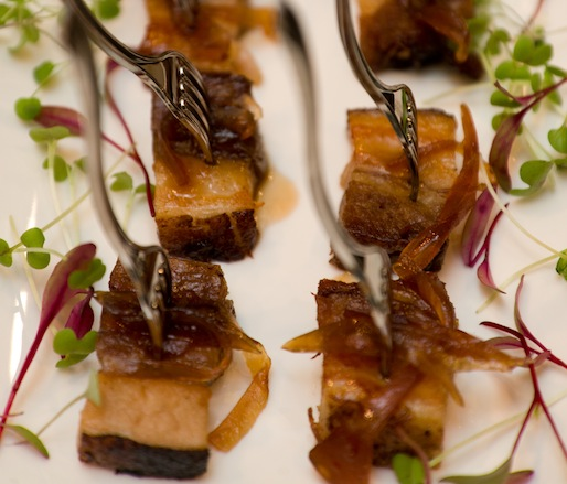 Crispy Kurobuta Pork Belly with Dulce de Lechosa