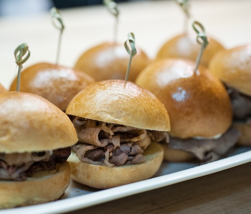 Smoked Kobe Prime Rib Sandwiches with Horseradish Sauce