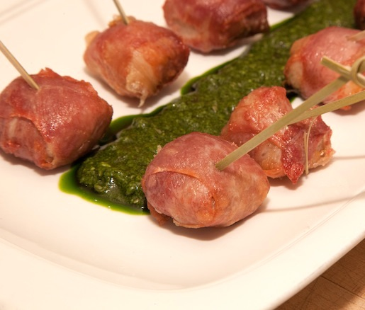House-Cured Prosciutto–Wrapped Rabbit Loin