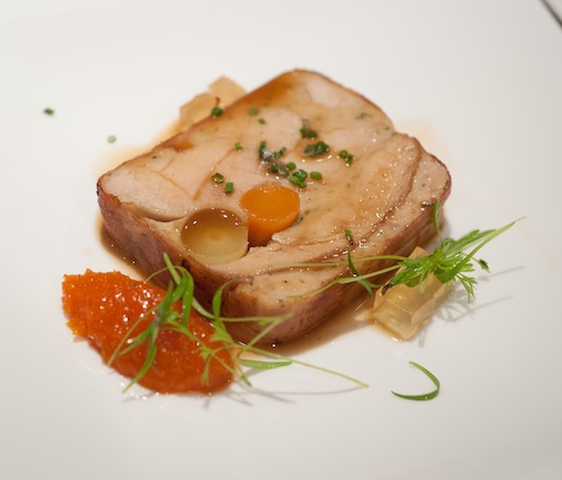 Young Rabbit, Carrot, and Sweetbread Terrine with Carrot Marmalade